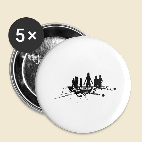 Sterk Genoeg by Natasja Poels limited edition - Buttons groot 56 mm (5-pack)