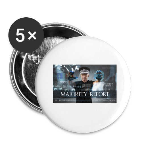 Majority Report - Buttons large 2.2''/56 mm(5-pack)