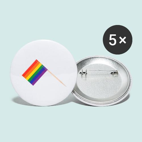 LGBT+ - Buttons groß 56 mm (5er Pack)