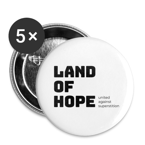 Land of Hope - Buttons large 2.2''/56 mm (5-pack)
