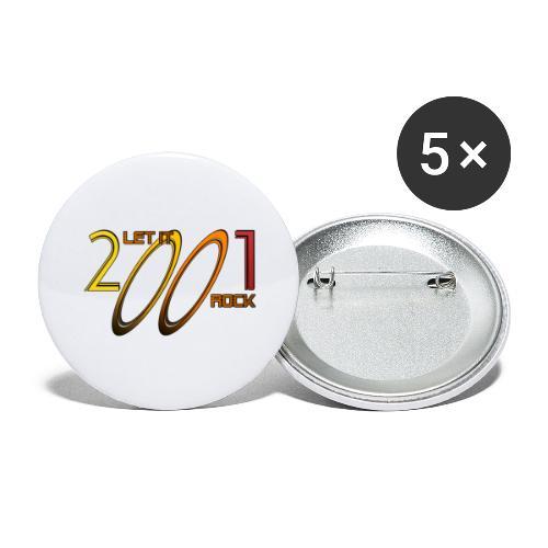 Let it Rock 2001 - Buttons groß 56 mm (5er Pack)