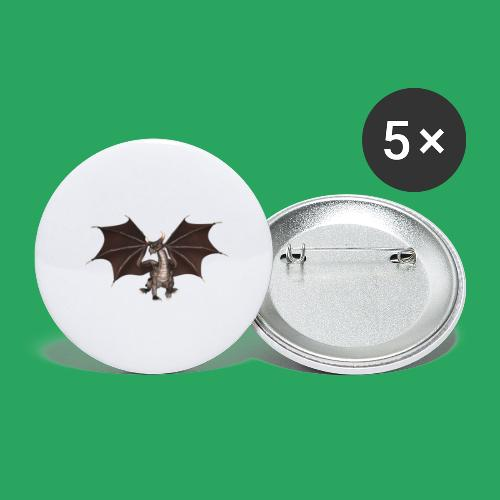 dragon logo color - Confezione da 5 spille grandi (56 mm)