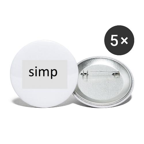 simp - Buttons groot 56 mm (5-pack)