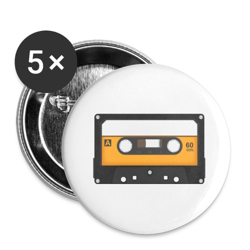 Cassette tape - Buttons groot 56 mm (5-pack)