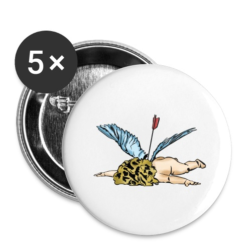 Did Cupid shoot himself, or did some other god of - Buttons large 2.2''/56 mm(5-pack)