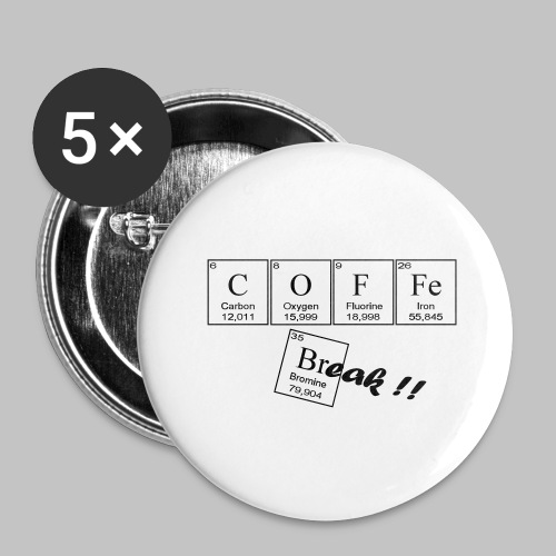 Coffee Break - Buttons large 2.2''/56 mm(5-pack)