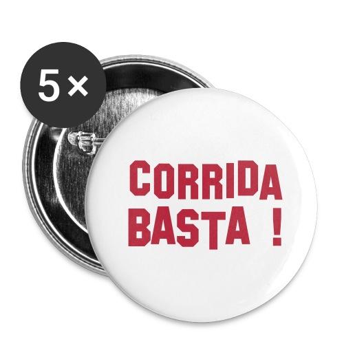Anti-Corrida - Lot de 5 grands badges (56 mm)