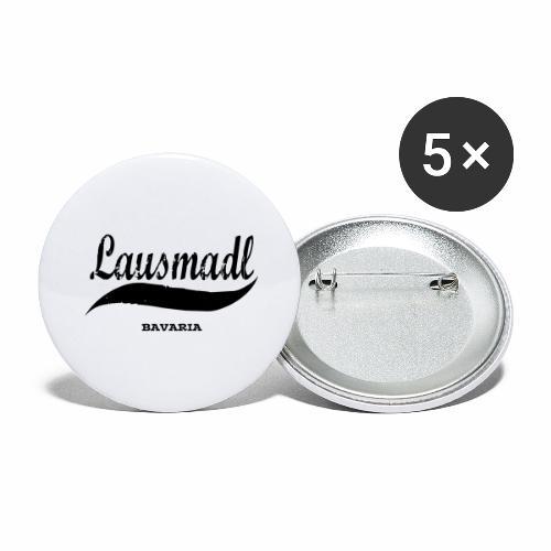 LAUSMADL BAVARIA - Buttons groß 56 mm (5er Pack)
