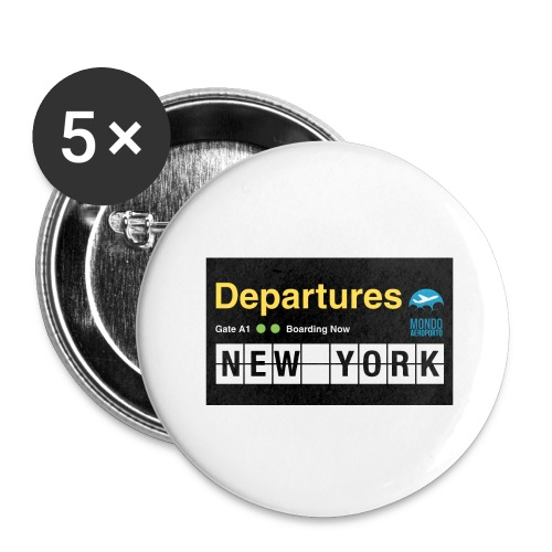 Departures Defnobarre 1 png - Confezione da 5 spille grandi (56 mm)
