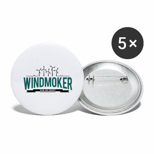 Windmoker vun de Geest - Buttons groß 56 mm (5er Pack)