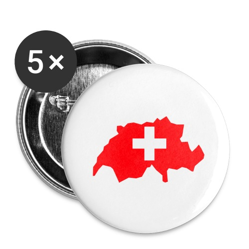 Switzerland - Buttons groot 56 mm (5-pack)