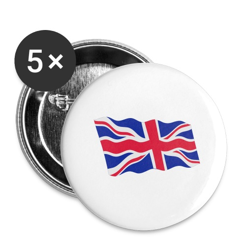 UK / United Kingdom - Buttons groot 56 mm (5-pack)