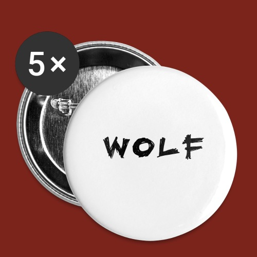 Wolf Font png - Buttons groot 56 mm (5-pack)