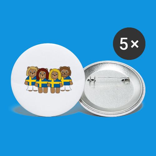 Abba Sweden Bears.png - Buttons large 2.2''/56 mm(5-pack)
