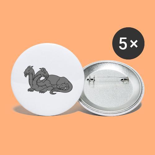dragon 2 - Lot de 5 grands badges (56 mm)