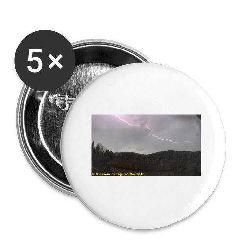 6é photo de l orage du 28 mai 2016 JPG - Lot de 5 grands badges (56 mm)