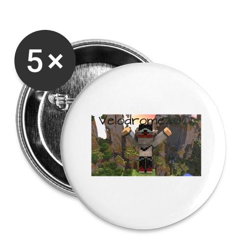 Velodrome2001 Tröja! - Stora knappar 56 mm (5-pack)