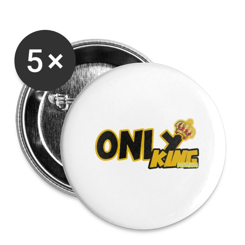 OnlyKing snapback - Lot de 5 grands badges (56 mm)