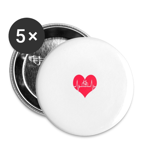 I love my Bike - Buttons large 2.2''/56 mm(5-pack)