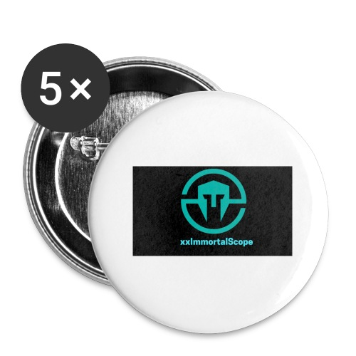 xxImmortalScope throwback - Buttons large 2.2''/56 mm(5-pack)