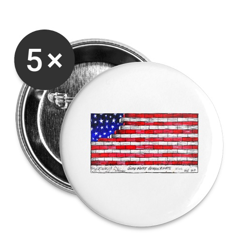 Good Night Human Rights - Buttons large 2.2''/56 mm (5-pack)