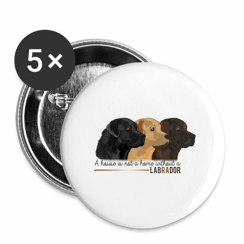 Labrador - Lot de 5 grands badges (56 mm)