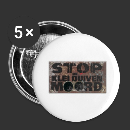 kleiduivenmoord - Buttons groot 56 mm (5-pack)