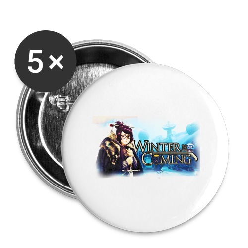 Overwatch and GameOfThrones Fusion - Buttons large 2.2''/56 mm (5-pack)