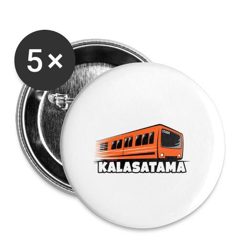 11- METRO KALASATAMA - HELSINKI - LAHJATUOTTEET - Rintamerkit isot 56 mm (5kpl pakkauksessa)