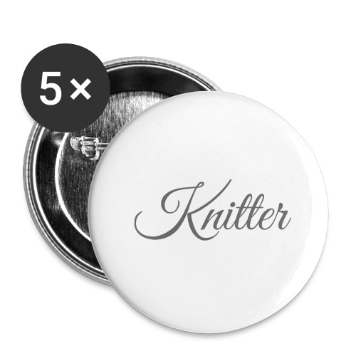Knitter, dark gray - Buttons large 2.2''/56 mm (5-pack)