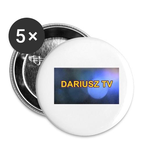 DARIUSZ TV - Przypinka duża 56 mm (pakiet 5 szt.)