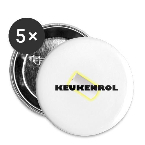 Keukenrol - Buttons groot 56 mm (5-pack)