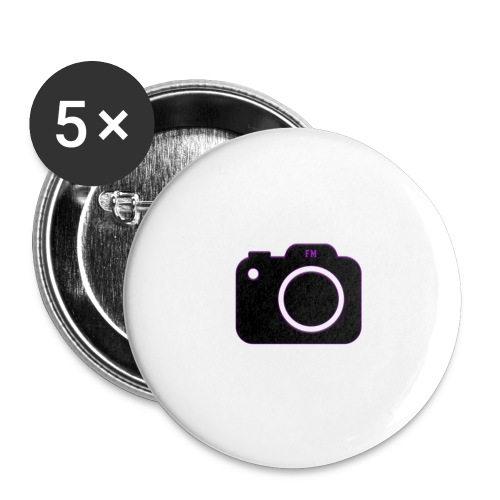 FM camera - Buttons large 2.2''/56 mm (5-pack)