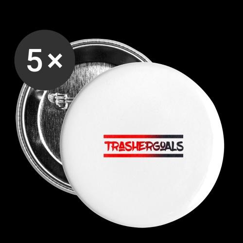 trashergoals lgo red-black - Buttons groot 56 mm (5-pack)