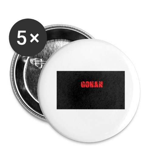 logo - Confezione da 5 spille grandi (56 mm)