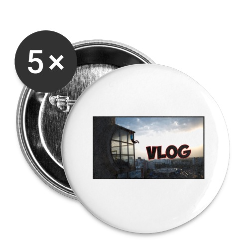 Vlog - Buttons large 2.2''/56 mm (5-pack)