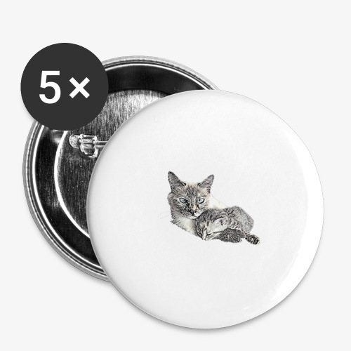 Snow and her baby - Buttons large 2.2''/56 mm(5-pack)