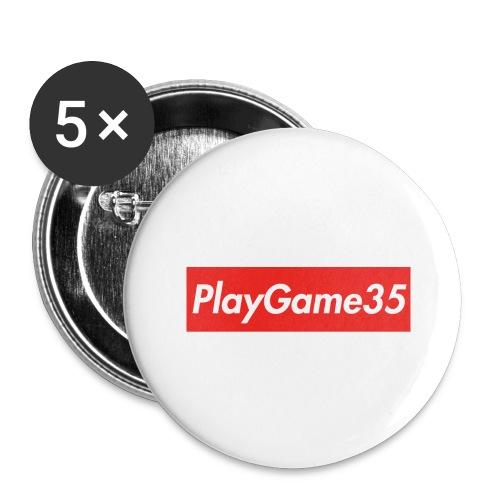 PlayGame35 - Confezione da 5 spille grandi (56 mm)