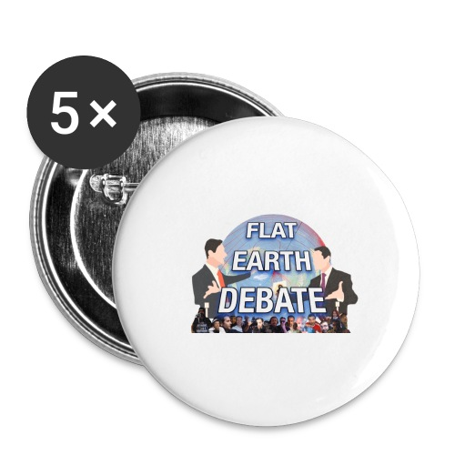 Flat Earth Debate Transparent - Buttons large 2.2''/56 mm(5-pack)