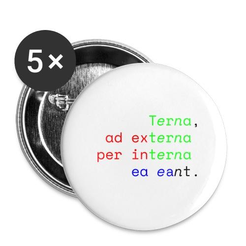 Terna Alba - Confezione da 5 spille grandi (56 mm)