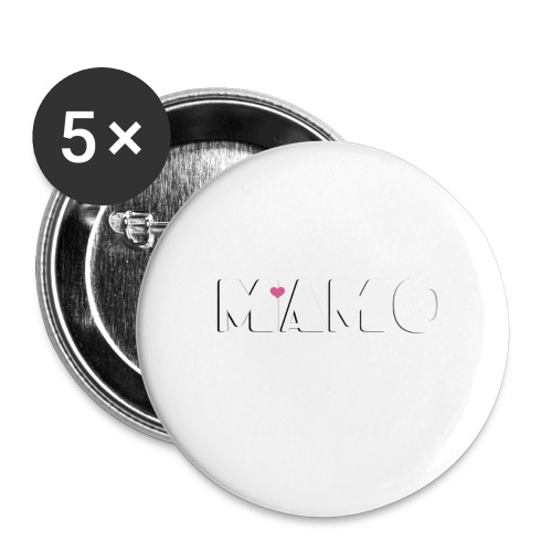MAMO - Confezione da 5 spille grandi (56 mm)