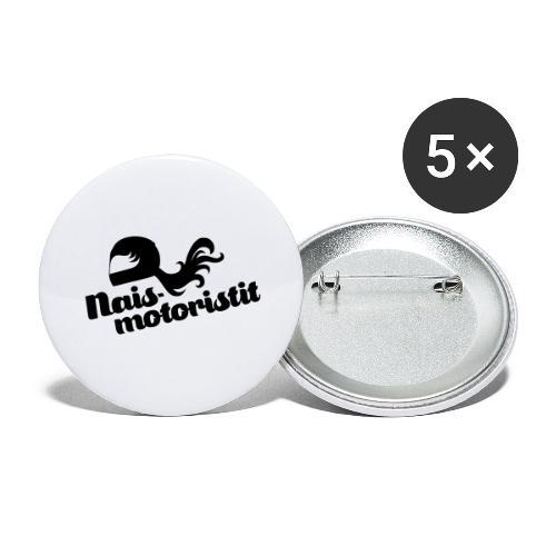 Facebook Naismotoristit - Rintamerkit isot 56 mm (5kpl pakkauksessa)