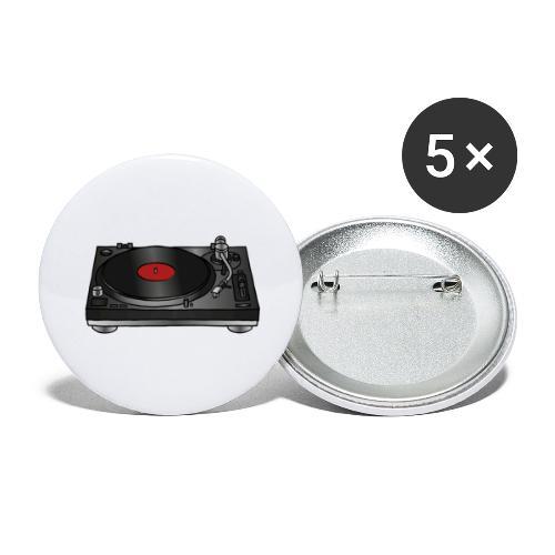 Plattenspieler VINYL - Buttons groß 56 mm (5er Pack)