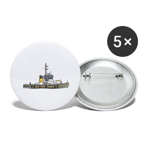 Schlepper Schleppschiff c - Buttons groß 56 mm (5er Pack)
