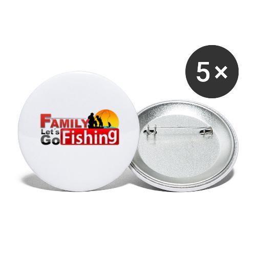 FAMILY LET´S GO FISHING FONDO - Paquete de 5 chapas grandes (56 mm)