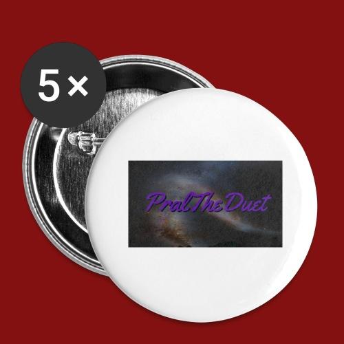 PralTheDuet Loggan - Stora knappar 56 mm (5-pack)