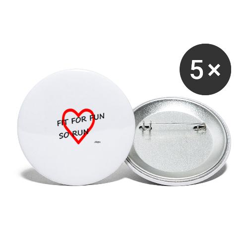 fit for fun - Buttons groß 56 mm (5er Pack)
