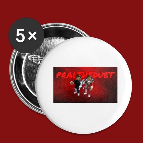 Pral - Stora knappar 56 mm (5-pack)