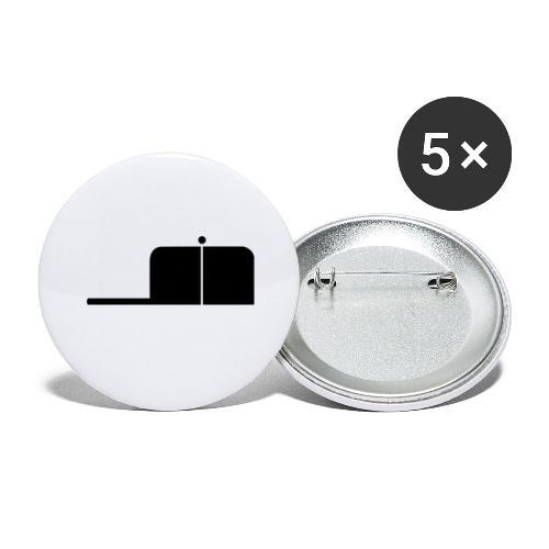 SigWood - Buttons groß 56 mm (5er Pack)