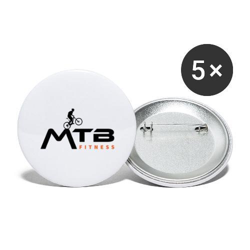Subtle MTB Fitness - Black Logo - Buttons large 2.2''/56 mm(5-pack)